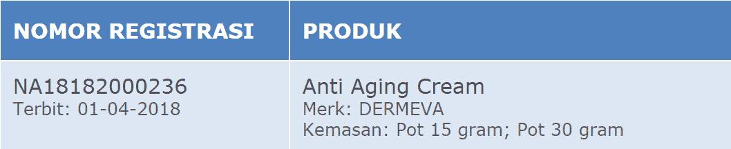 Dermeva Sertifikat BPOM image